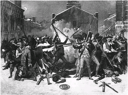 Boston Massacre Dark Depiction