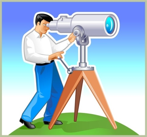 man_with_telescope_vector_155640
