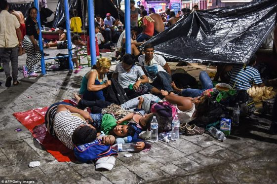 caravan in Tijuana